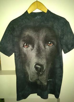 Новая футболка The Mountain Black Lab Face, размер M, оригинал
