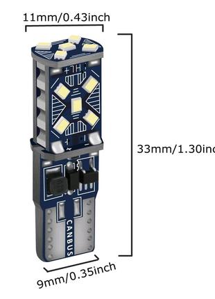 Т 10 лампочки пара LED авто мото