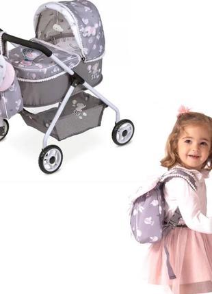 Коляска для кукол DeCuevas 86035 Кукольная с рюкзаком серии Ск...