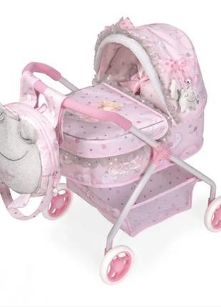 Классическая коляска для кукол с рюкзаком 86034 от DeCuevas се...