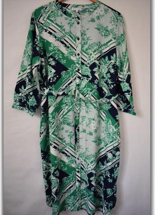 Натуральное стильное платье большого размера