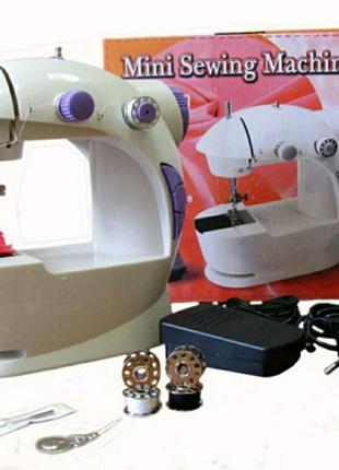 Мини швейная машинка новая переносная с ножным управлением