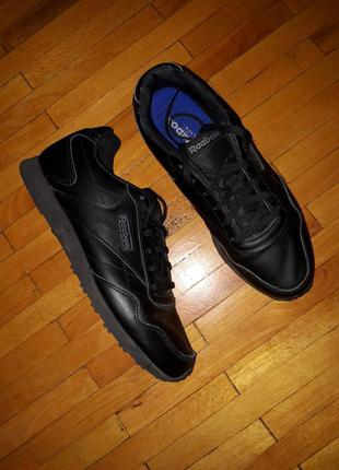 Кросівки reebok чоловічі чорні шкіряні кроссовки