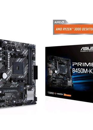 ASUS Prime B450M-K (AMD AM4) + гарантія