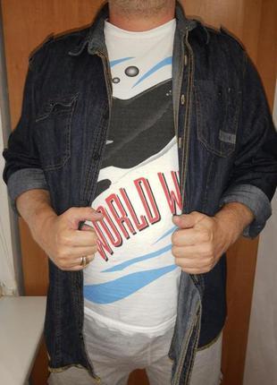 Рубашка / сорочка джинсовая мужская