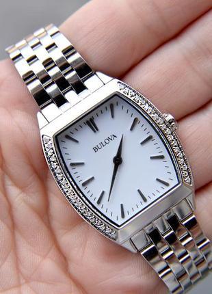 Скидка недели! женские часы с 38 бриллиантами bulova, діаманти...
