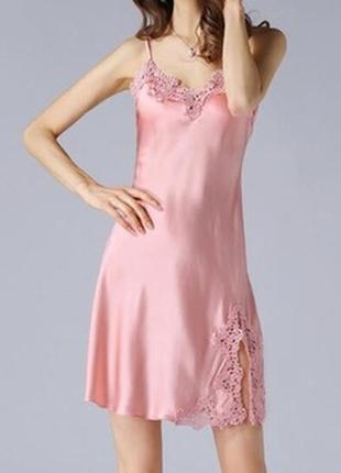 🌺🎀🌺красивая женская шелковая ночная рубашка bhs🔥🔥🔥