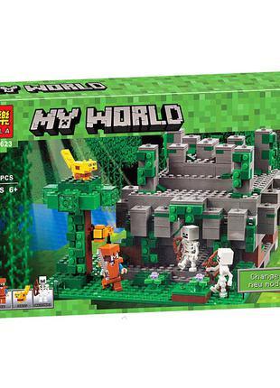 Конструктор Bela 10623 My World Храм в джунглях 604 дет