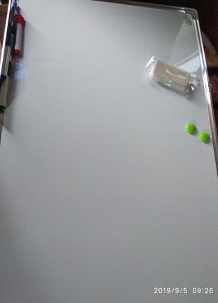 ! Доска магнитная, маркерная 90×60 см флипчарт, магниты, губка...