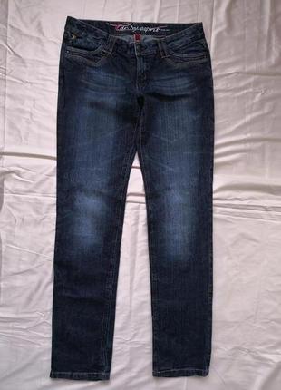 Женские роскошные джинсы слим EDC by Esprit FIVE средняя посадка