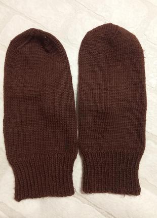 Вязаные, теплые рукавички, варежки.
