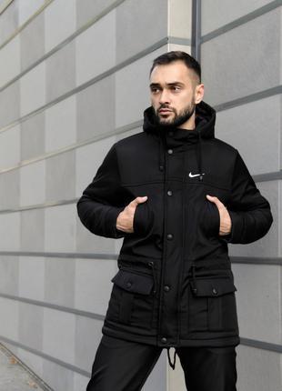 Парка Зима Nike мужская черная