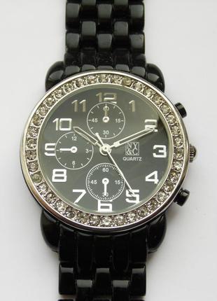 New york &company часы со стразами вокруг циферблата