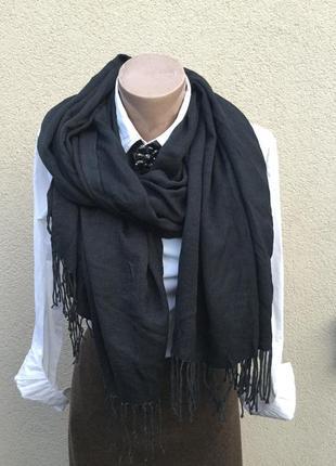 Большущий шарф,палантин с бахромой,пашмина-кашемир100%,люкс бр...