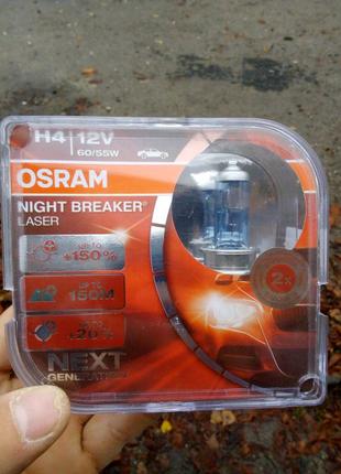 Автолампа OSRAM 64193NL H4 Night Breaker LASER NG +150% 60/55W 12