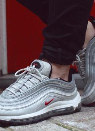 Распродажа nike air max 97 silver серые рефлективные кроссовки...