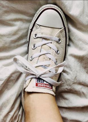 Converse All Star женские бежевые низкие кеды конверс
