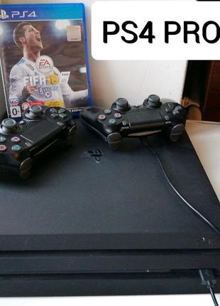 PlayStation 4 Pro 1 TB +Fifa18, PS4 Pro два джойстика