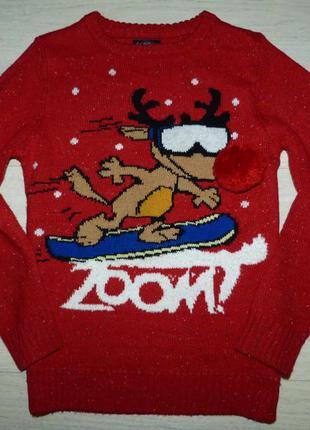 Новогодний свитер next 9 лет