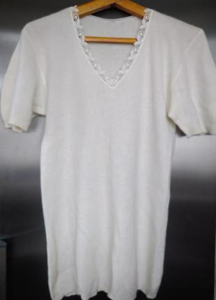 Термобелье - футболка согревающая из ангоры и овечьей шерсти  ...