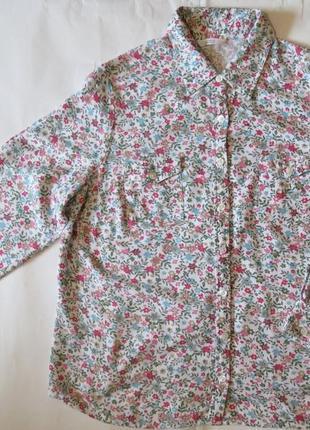 Женская рубашка блуза цветочный  принт 16 размер
