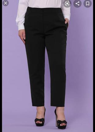 Чёрные женские классические брюки большого размера select