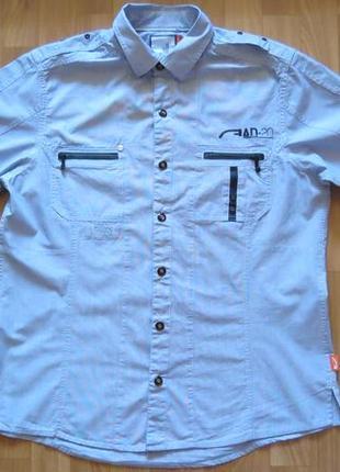 Мужская рубашка next с коротким рукавом