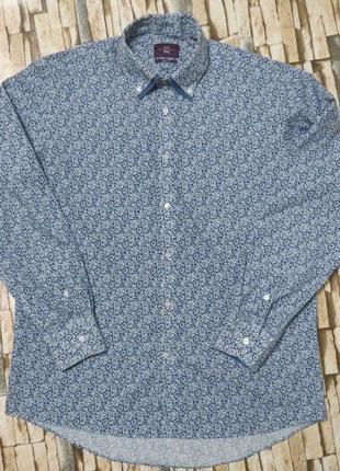 Мужская рубашкас узором большой размер 54-56