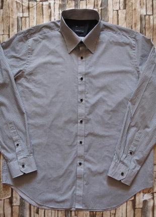 Мужская рубашка с длинным рукавом debenhams большой размер 52-54