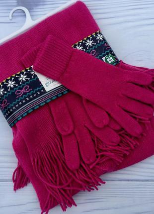 Перчатки + шарф ,комплект перчатки+шарф