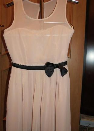 Платье пудрового цвета размер 46-48 atmosphere