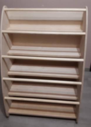 Полка Монтессори на 70 книг, стелаж полиця дитяча по Монтесорі