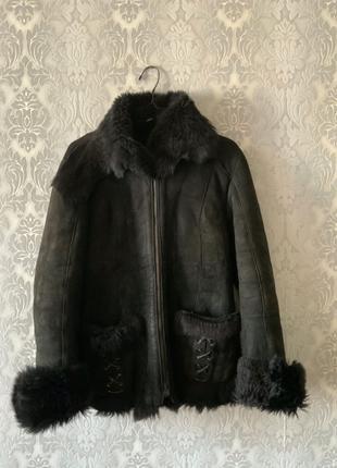 Дубленка, натуральный мех, овчина (размер s-m)