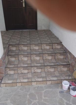 Облицовка природним  камнем плиткой