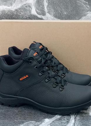 Качественные зимние ботинки ecco classic winter boots черные,к...