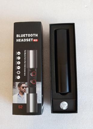 Беспроводные Bluetooth наушники S2 Черные