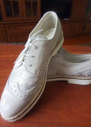Классные туфли броги pier оne из натуральной кожи оригинал