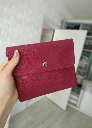 Клатч бордовый, сумка, сумочка
