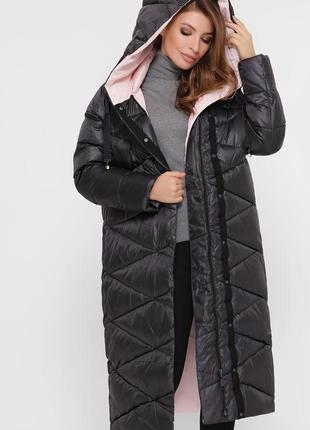 Модная длинная зимняя куртка