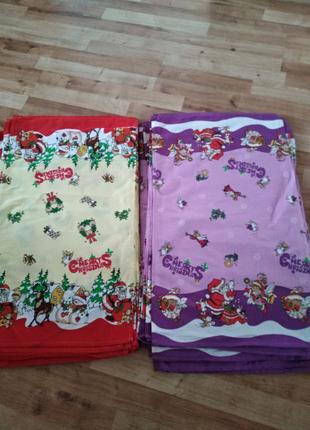 Новогодние кухонные полотенца вафельные