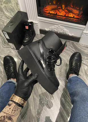 "Ботинки puma x fenty by rihanna sneaker boot ""black"""