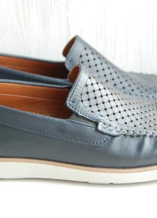 Мужские кожаные туфли, мокасины, 40 размер, Турция
