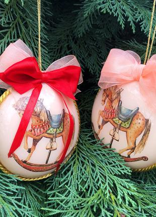 Новогодний декор, шары на елку ручной работы