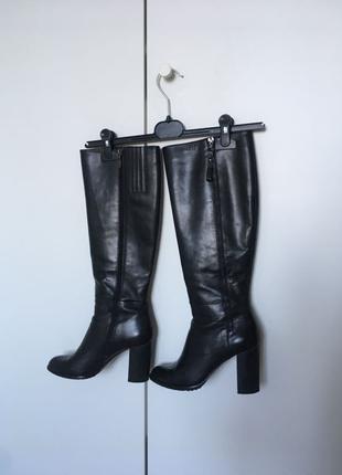 Кожаные сапоги Respect, на устойчивом каблуке, базовые сапоги