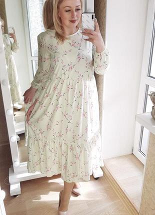 Красивое платье цвета в ассортименте + фото в живую