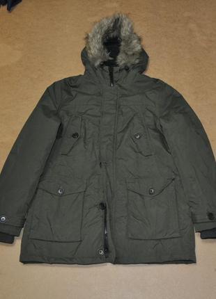 F&f зеленая парка куртка мужская зима