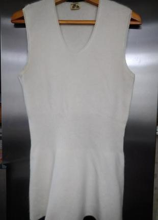 Термобелье - футболка согревающая из ангоры и овечьей шерсти б...