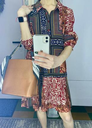 Шикарное платье рубашка с юбкой плиссе средней длины Missguided