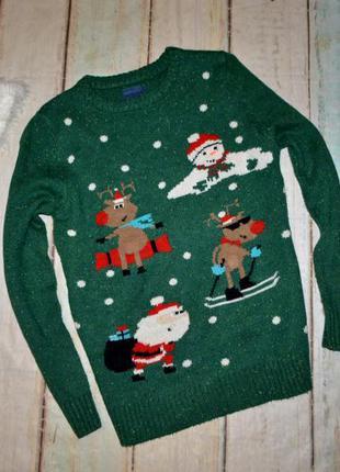 Новогодний свитер next на 12 лет
