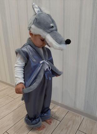 Новогодний карнавальный костюм серый Волк